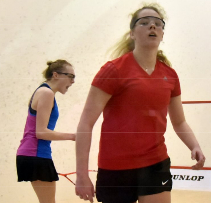 Margot at the English Junior Squash Championships 2018