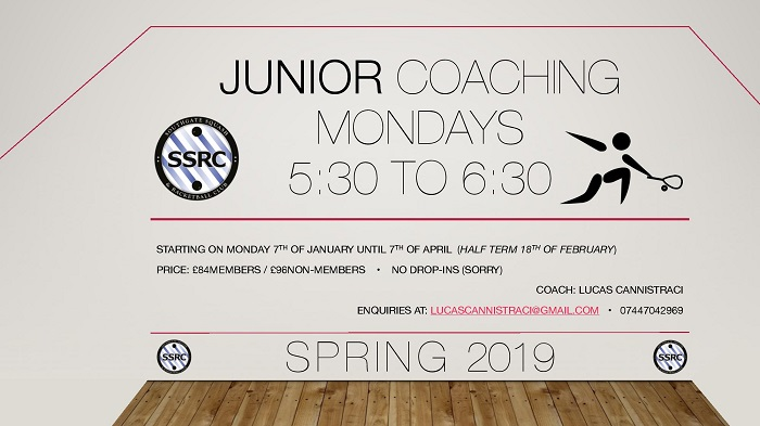 Junior Coaching Spring Jan/Apr 2019