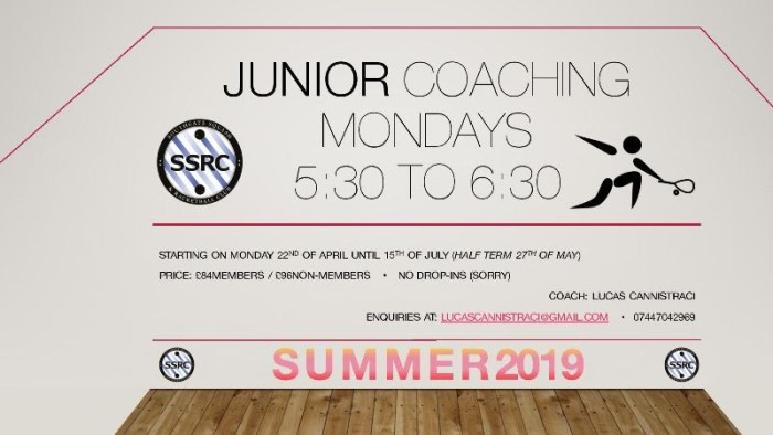 Junior Coaching Summer 2019