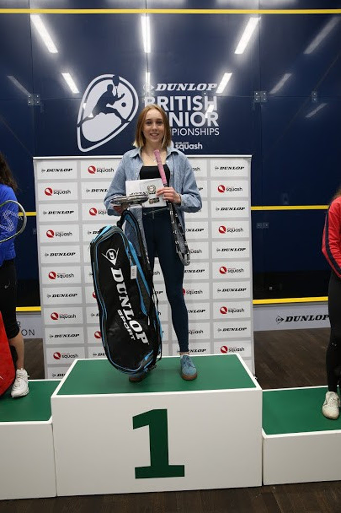 Margot Prow GU17 Winner at the Dunlop British Junior Championships