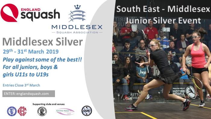 Middx Silver Juniors Tournament March 2019