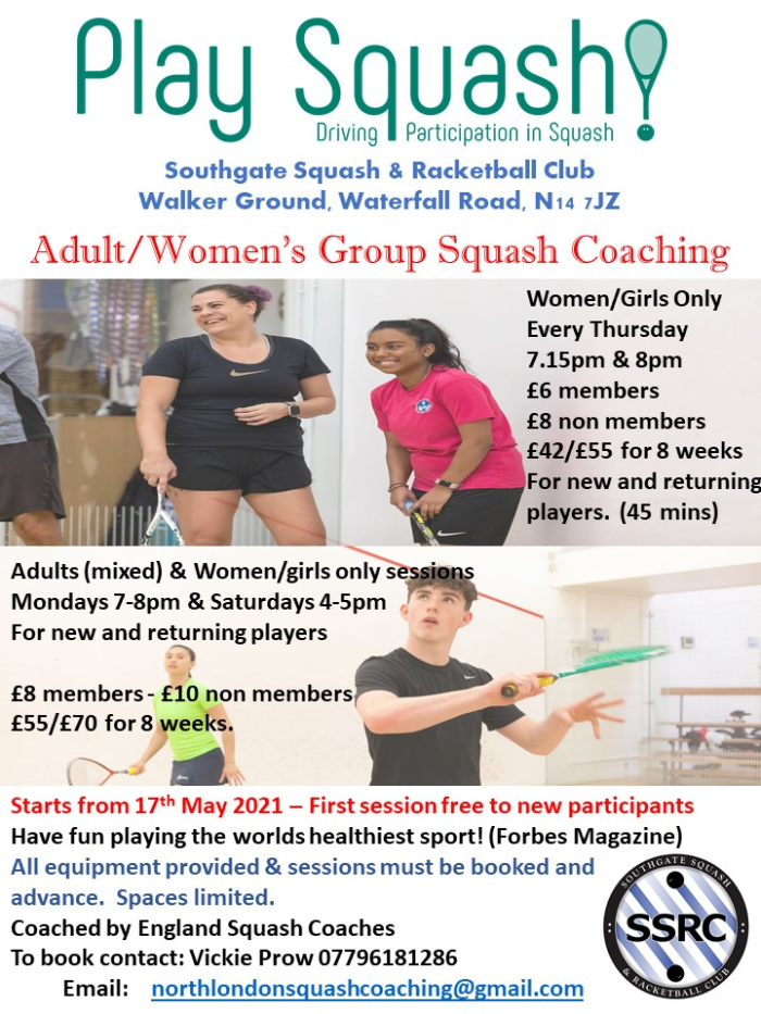 Adult/Womens/Girls Group Coaching from 17th May 2021
