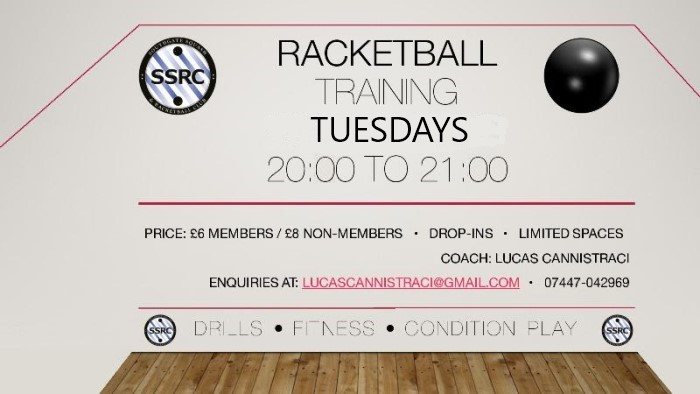 Racketball Training from 10th April 2019