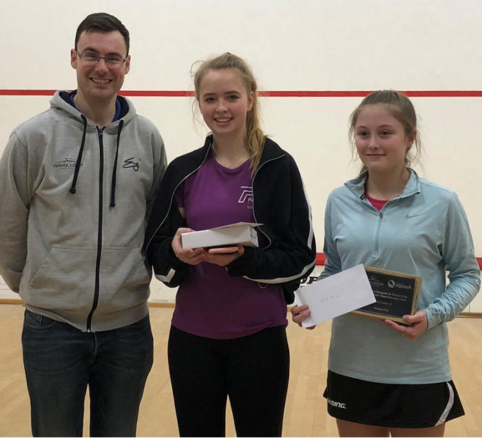 Abbie Wilkinson (right) Wimbledon Junior Squash 2018